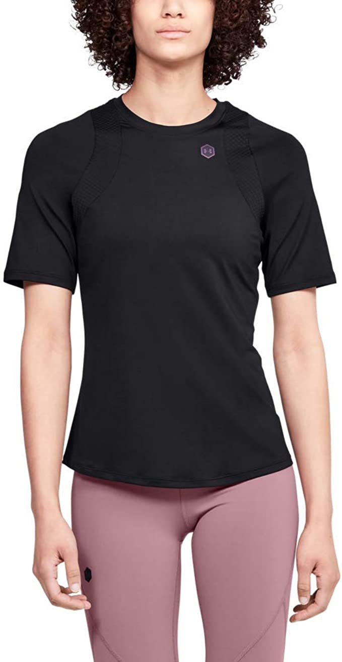 Under Armour Rush Camiseta Ajustada Transpirable con tecnología Rush, Camiseta de Manga Corta de Corte Ajustado Mujer