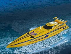 "37"" Speed X-Cyclone 1/16 RC Racing Boat R/C Radio Remote Controlled NQD Craft - Factory assembled & painted - Control forward, left and right turn, stop - Vector-Push Design - Powered by twin 380 Type racing motors - Twin professional sty..."