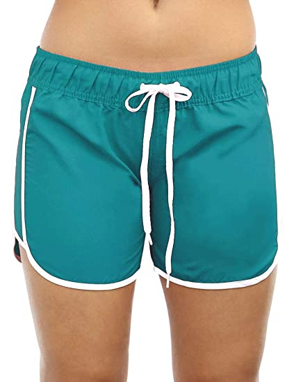 cb75566ccd Adoretex New Women's Quick Dry Swim Shorts Beach Board Shorts Swimsuit  (FB010) - Aqua