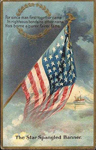 The Star Spangled Banner Patriotic Original Vintage Postcard