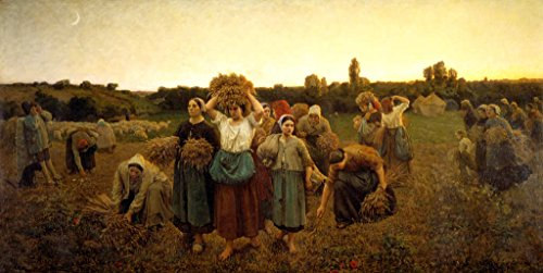 kunst für alle Art Print/Poster: Jules Breton The Return of The gleaners Picture, Fine Art Poster, 31.5x15.7 inch / 80x40 cm (Best Time To Visit Musee D Orsay)