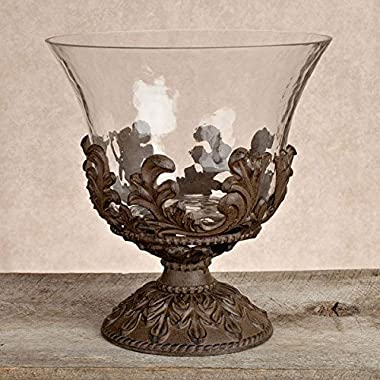 Gg Collection Glass Beverage Tub W/ Metal Base - Baroque