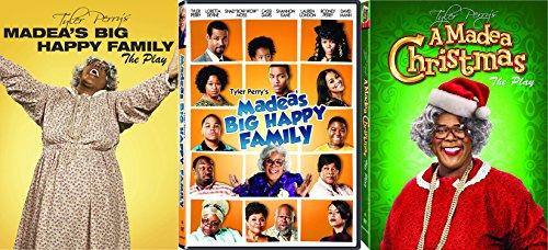 Tyler Perry's Madea's Big Happy Family - The Play & Movie with Bonus A Madea Christmas The Play 3-DVD Bundle