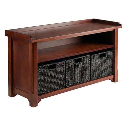 (Winsome Wood Granville Storage Bench with 3 Foldable)