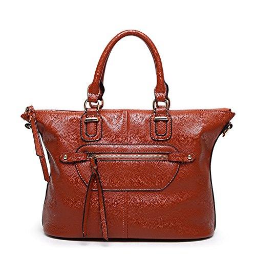 Handbag brown Hombro Motorcycle Satchel Caliente Fashion Y Nueva Primavera Negro Bag Verano Meaeo qE75UdIxw7