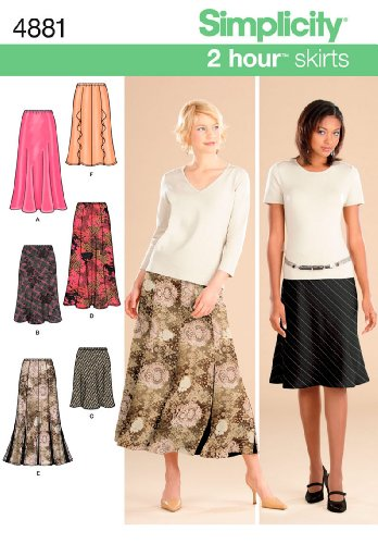 Simplicity Sewing Pattern 4881 Misses Skirts, HH (6-8-10-12)