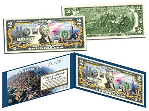 WORLD TRADE CENTER * Then & Now * 14th Anniversary 9/11 WTC $2 Bill NEVER...
