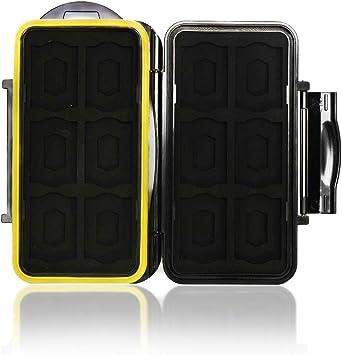 Blizim Estuche Impermeable para Tarjetas de Memorias 12 Micro SD +12 SD Tarjetas: Amazon.es: Electrónica