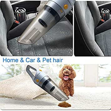 Handheld Vacuum Cordless, HUNLEE 120W Rechargeable Hand Vacuum, Portable Vacuum Cleaner, Lightweight Hand Held Vacuum for Home Car Dust Pet Hair Cleaning