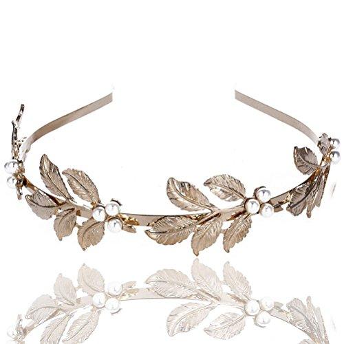 Frcolor Leaf Headband, Greek Goddess Headpiece Leaf Bridal
