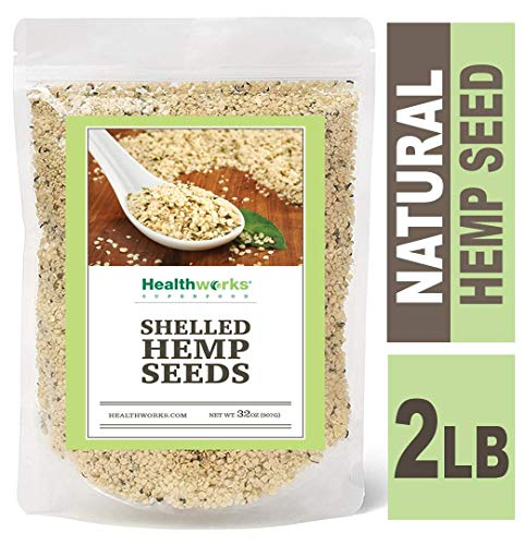 Healthworks Hemp Seeds Raw Shelled 2 Pound