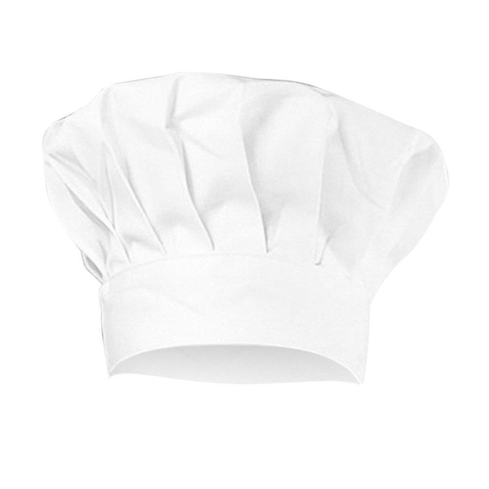 Spaufu Cappello da Cuoco Regolabile Cappello Cucinando Panettiere Cappello Ristorante Albergo Colore Bianco per Adulto