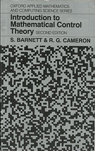 Introduction to Mathematical Control Theory (Oxford Applied Mathematics and Computing Science Series)