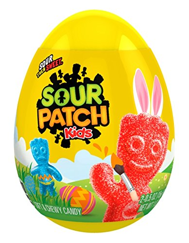 Sour Patch Kids Soft Candy Easter Egg, 24 Count
