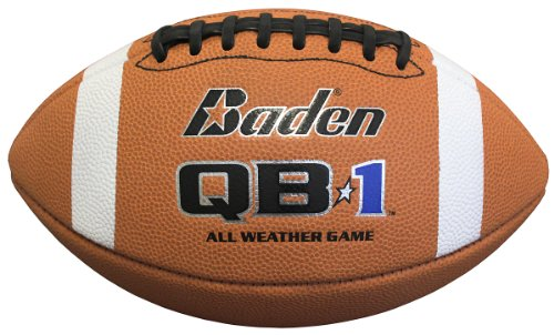 Baden QB1 All Weather Microfiber Game Football (Official Size)