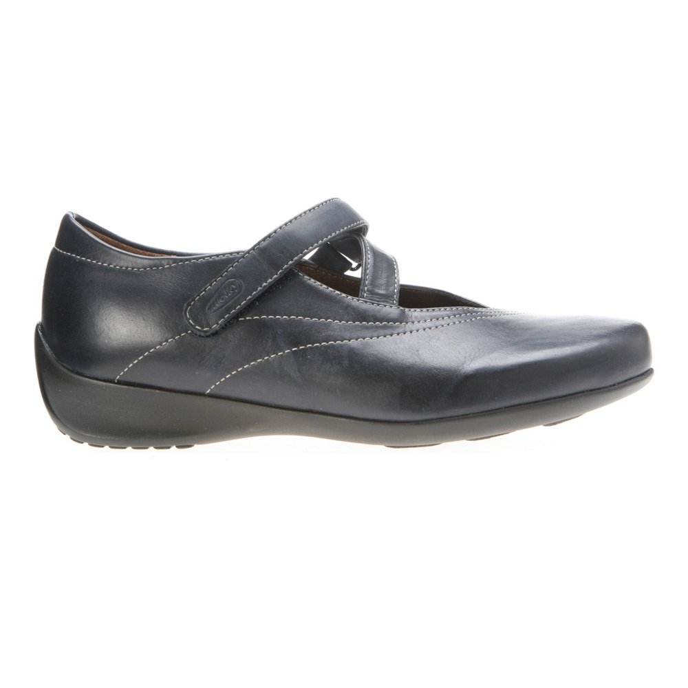 Wolky Comfort Mary Janes Silky B002E1I7OE 38 M EU|Navy Smooth Leather