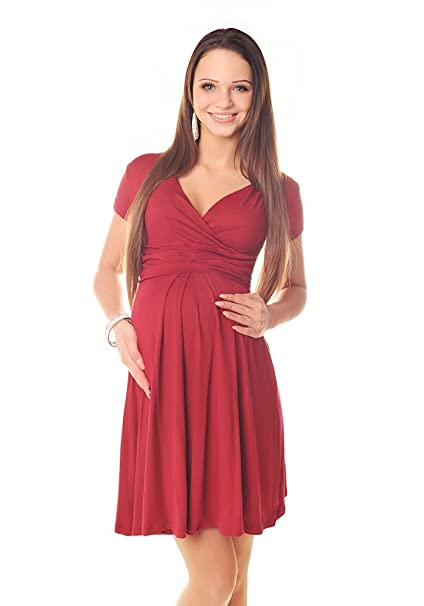 Maternity Short Sleeve Summer Dress Pregnancy 8417 Variety of Colours (6 (UK 10)