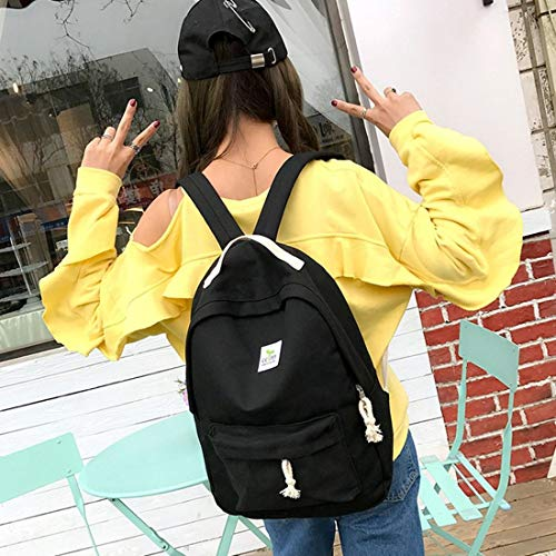 Universitario Hombro Señoras Diseño Mochila Niñas Bolsa Lona de 2 UNIDS Viento SET 2017 mochila Moda Mujeres Escuela AU1nET
