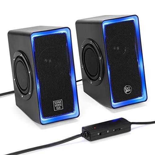 GOgroove SonaVERSE O2i LED Computer Speakers Desktops & Lapt
