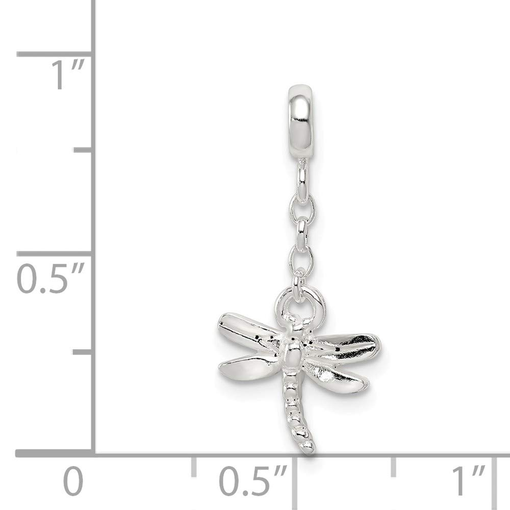 FB Jewels Solid 925 Sterling Silver DragoNFLy 1 2In Dangle Enhancer