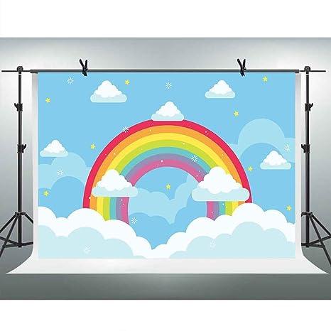 amazon com fhzon 10x7ft cartoon backdrop blue sky white cloud