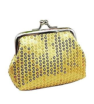 Yeah67886 Lady Lentejuelas pequeño Monedero Hebilla Mini Cartera (Oro): Amazon.es: Hogar