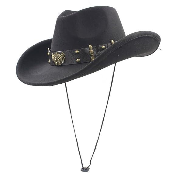 950f1567c57 SMC Women Men Western Cowboy Hat With Roll Up Brim Dad Sombrero Caps (Color