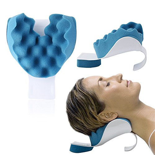 Neck and Shoulder Relaxer Neck Pain Relief and Support Device Shoulder Relaxer Massage Traction Pillow (Traction Equipment)