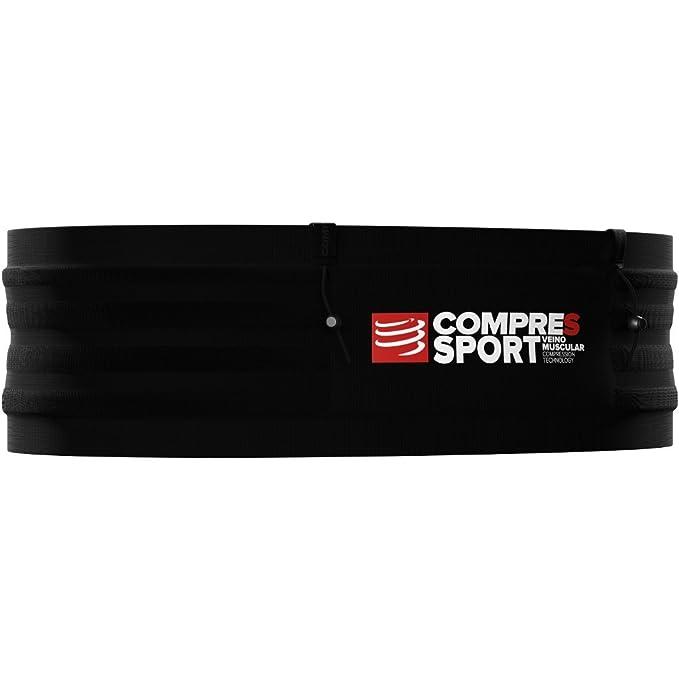 COMPRESSPORT Free Belt Pro M/L - Cinturón de Running para Adultos, Color Negro
