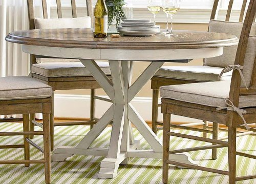 Universal Furniture Great Rooms Garden Breakfast Table in Terrace GrayWashed Linen 128757 CODEUNIV20 for 20 (Room Furniture Dining Terrace Garden)