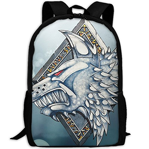 Wolf Logo Vintage Interest Print Custom Unique Casual Backpack School Bag Travel Daypack - Bag Custom Logo Sunglasses