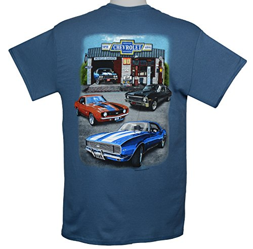 Chevy Camaro, Nova & Chevelle Muscle Cars T-Shirts - Blue by Hot Rod Apparel