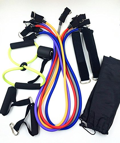 Amazon.com : ASIBT 12 pcs fitness pull rope bungee cord resistance ...