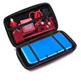 ButterFox 12-in-1 Accessory Case For New Nintendo 3DS XL Console, Red