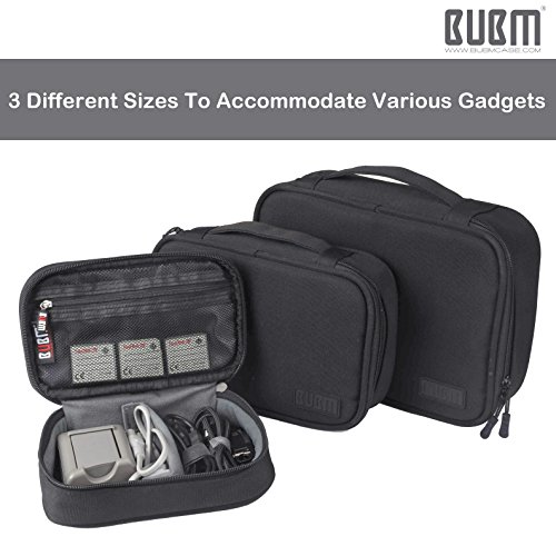 Travel Electronics Organizer Bag - BUBM Portable 3 pcs/Set Gadget Carrying Storage Bag,Cable Organizer Cases for USB Cables, Hard Drive,Memory Card,Power Bank,External Flash,2 Year Warranty by BUBM (Image #3)