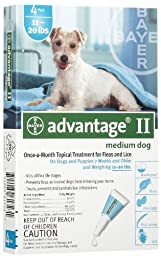 Advantage for Dogs 11-20 lbs, 4 - 1.0 ml tubes