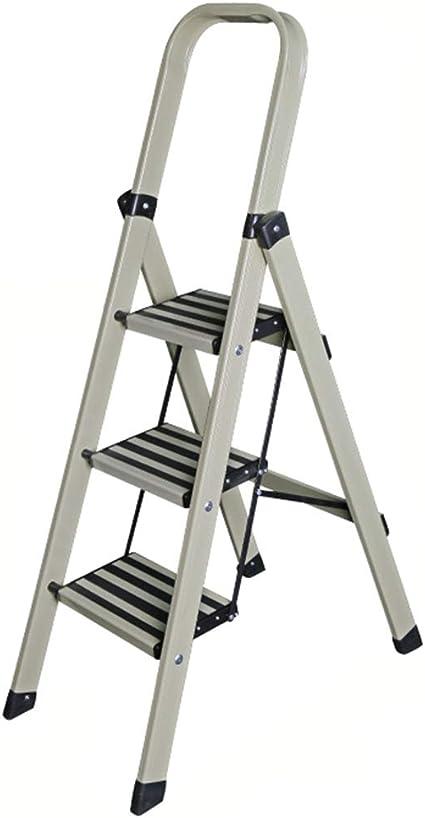 Escalera plegable Escalera decorativa, escalera de tres escalones de la cocina Escalera multifuncional plegable de metal Multifuncional (color : Light green, Tamaño : 45 * 86 * 147CM): Amazon.es: Bricolaje y herramientas