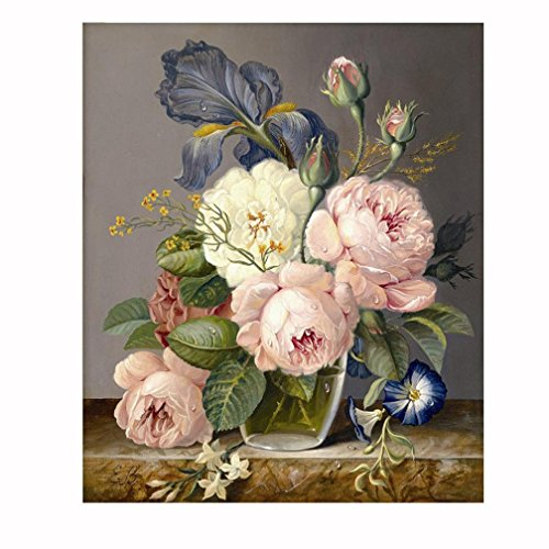 Gotd Floral Flower 5D Embroidery Paintings Rhinestone Pasted DIY Diamond Painting Cross Stitch (Multicolor A)