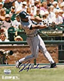 Signed Rickey Henderson Photo - Bat 8x10 Memories - Mounted Memories Certified - Autographed MLB Photos