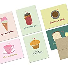 72 Note Cards - Punny Love - Blank Cards - Kraft Envelopes Included