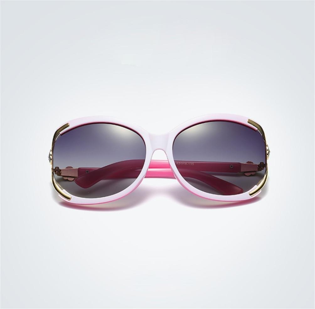 WW Dame Polarisierte Sonnenbrille Retro Brille , Leopard Purple #2,leopard purple #2