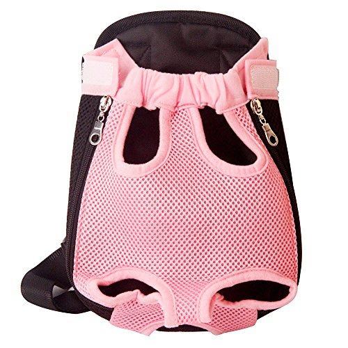 Yingjie Dog Carrier Pink Legs Out Front Pet Carrier Backpack Comfortable Puppy Bag with Shoulder Strap and Sling for Travel Hiking Camping Outdoor Pack Pet Carrier