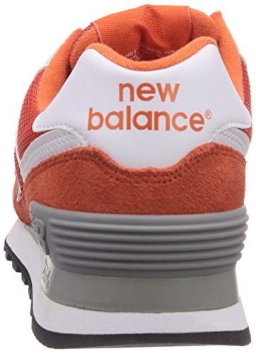 888546369719 - New Balance Men's ML574 Picnic Pack Collection Classic Running Shoe, Orange/Silver, 11.5 D US carousel main 1