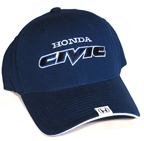 Honda Civic Hat (Greg's Automotive Honda Civic Flex-Fit Hat Cap Blue Includes a Racing Decal)