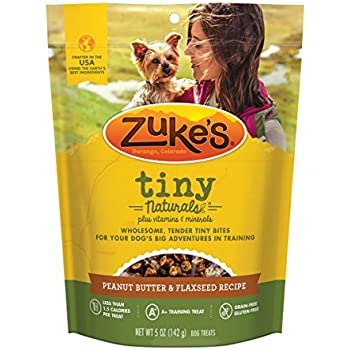 Zuke's Tiny Naturals Peanut Butter & Flaxseed Recipe Dog Treats - 5 oz. Pouch