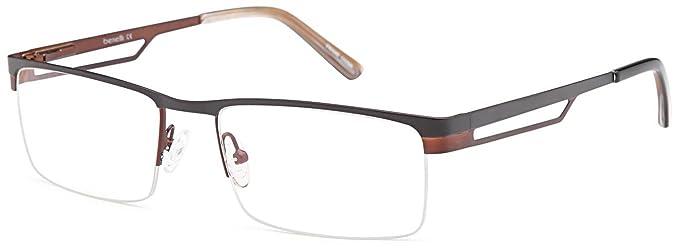 Amazon.com: Half Rimmed 100% Stainless Steel Prescription Eyeglasses ...