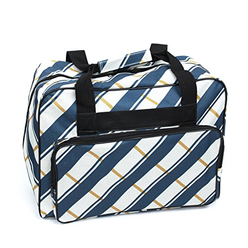 Janome Blue Plaid Portable Sewing Machine Tote Bag Carrying Case