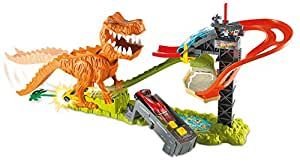 hot wheels t rex takedown playset toys games. Black Bedroom Furniture Sets. Home Design Ideas