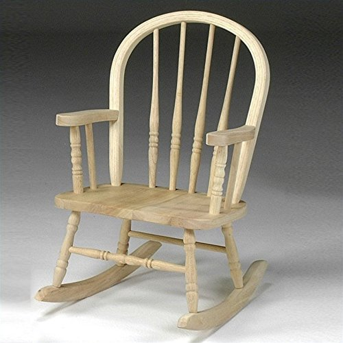 International Concepts 1CC-2140 Windsor Rocker, - Unfinished Child Rocking Chair