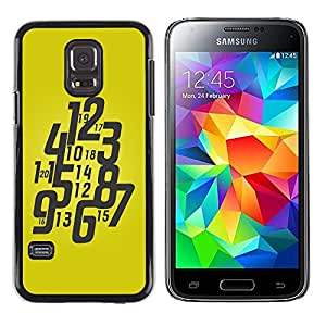 Planetar® ( Typography Funky Yellow Watch ) Samsung Galaxy S5 Mini / Samsung Galaxy S5 Mini Duos / SM-G800 !!!NOT S5 REGULAR! Fundas Cover Cubre Hard Case Cover